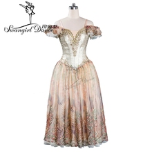 sleeping beauty romantice ballet dress gold adult giselle tutu professonal women ballerina dressBT9115