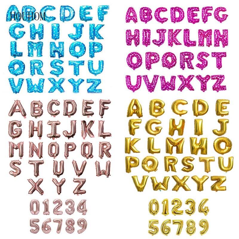 """Rosa 32/"""" pulgadas Número letra del alfabeto A-Z Foil Balloons nombre Fiesta Boda"""