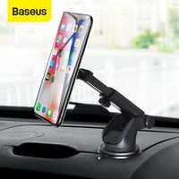 Baseus telescópica suporte do telefone do carro para o iphone celular do telefone móvel pára-brisa painel ventosa carro suporte de montagem magnética