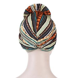 Image 4 - Helisopus хлопок дамы печатные повязки Кепка Chemo эластичный головной платок для женщин мусульманский тюрбан шапочки аксессуары для волос