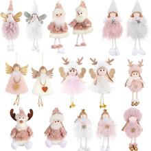 2020 Navidad pluszowy siedzący anioł ełk wisiorek ozdoba na choinkę święty mikołaj wiszące ozdoby świąteczne ozdoby do domu tanie tanio etyakids CN (pochodzenie) christmas decorations for home Bez pudełka