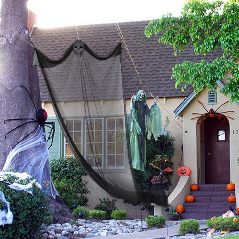 Esqueleto de Halloween Pendurado Fantasma Voando Decorações Para Festa Ao Ar Livre e Indoor Bar Adereços Assustadores 10.8ft (3.3 m) de Comprimento