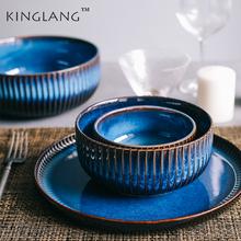 KINGLANG Nordic ceramiczna miska ryżu makaronu domu sałatka kreatywny gradient śniadanie miska na zupę tanie tanio Pod ramą Ce ue Lfgb Pojedyncze KL-231 Miski Ekologiczne Porcelany Stałe 1l