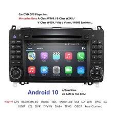 Android 9 2din Auto radio Auto DVD multimedia voor Mercedes Benz B200 EEN B Klasse W169 W245 Viano Vito W639 sprinter W906 WIFI GPS