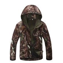 Caça realtree camuflagem softshell jaqueta masculina