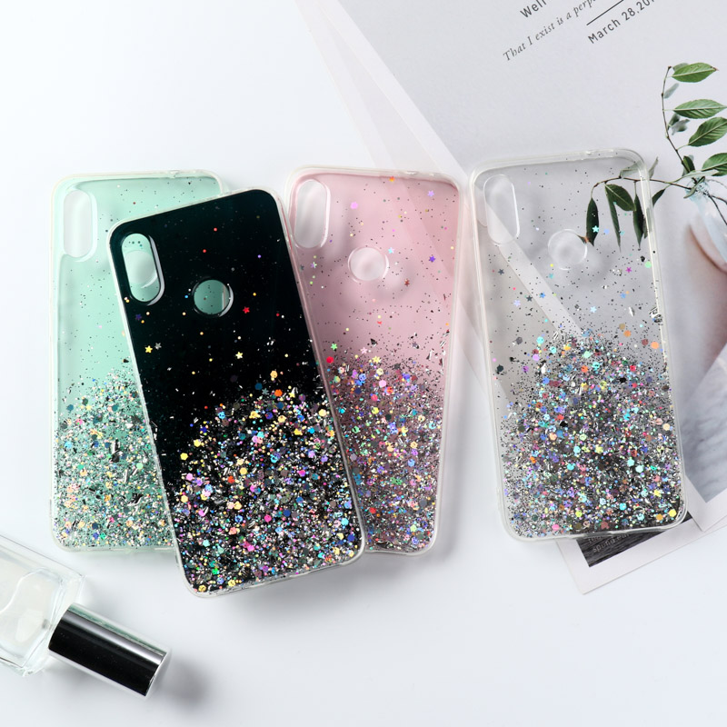 Glitter Bling Case For Xiaomi Redmi Note 9S 9 8 Pro 8T 7 6 7A K20 K30 Case Cover Mi Note 10 Pro 5G 9T SE A2 A3 Lite Cases Bumper(China)