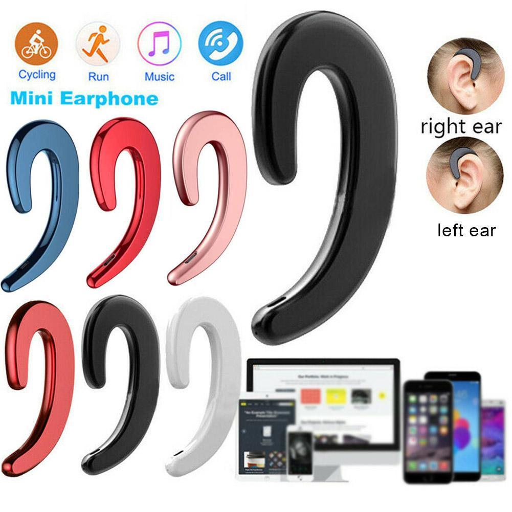Bone Conduction Earhook Wireless Bluetooth Earphone Noise Cancelling Stereo Earbuds Headphone Headset for Sports Running Driving