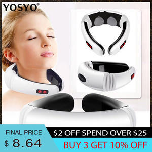 Neck-Massager Relief-Tool Relaxation Heating Health-Care Pulse-Back Pain Electric Far-Infrared