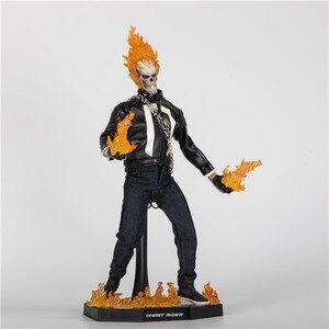 Marvel agenci tarczy 1/6 skala Ghost Rider TMS005 Ghost Rider figurka z oświetleniem LED PVC zabawka-model do kolekcjonowania