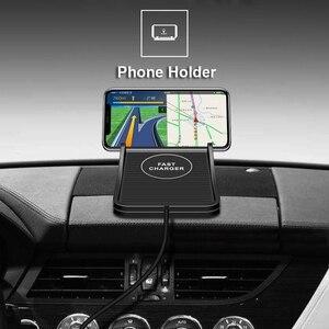 Image 5 - QI המכונית מהיר אלחוטי מטען מחזיק עבור iPhone X XR 11 XS מקס סמסונג S8 S9 S10 אלחוטי מטען לרכב רכב Pad C7