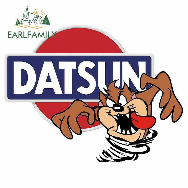 EARLFAMILY 13cm For Datsun TAZ Anime Car Stickers Waterproof Waterproof Decals Vinyl Bumper Laptop VAN RV Decor Car Wrap(China)