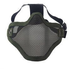 Airsoft Field Wargame Tribal Chief Mask Half Face Metal Steel Net Mesh Hunting Tactical Protective Airsoft Mask