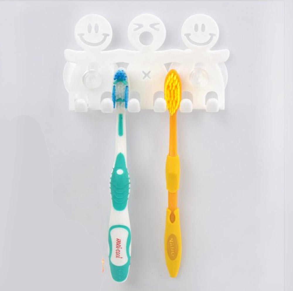 Z tworzywa sztucznego 5 pozycji szczoteczka do zębów łazienka Cartoon Sucker przyssawka haki domu ubrania kąpieli ręcznik pędzla prysznic organizator