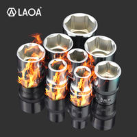 LAOA 10PCS 1/2 Hex Socket Wrench Head 12.5mm Used on Ratchet Socket Wrench Torque Spanner Deep Socket Tool From Taiwan|Sockets| |  -