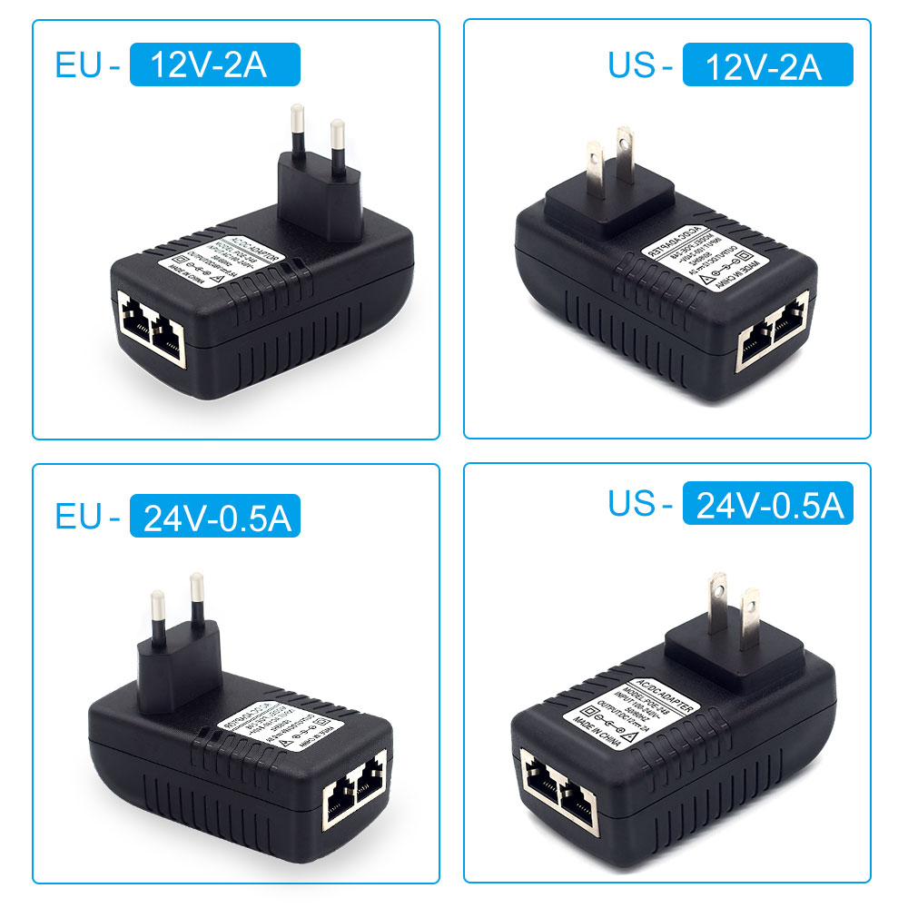 Top SalePoe-Power-Adapter Ethernet-Injector Power-Supply DC12V AC220V Over US 2a-Dc48v Eu/uk/us-optional