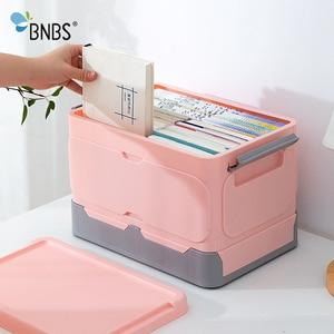 Caja de almacenamiento plegable organizador de papelería libro y aperitivos organizador de plástico cajas con artículos varios contenedor organizador de juguetes caja de ropa