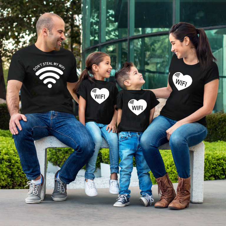 Don't Steal My Wifi Matching Family <font><b>Shirts</b></font> Mom Team Baby Team Dad Family Matching Tee Tops Outfits <font><b>Best</b></font> <font><b>Friends</b></font> TShirts Clothes image