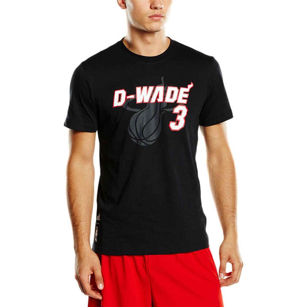 Мужская Спортивная Футболка addidas под прозвище, Дуэйн Уэйд, баскетбольная футболка с короткими рукавами, футболка с короткими рукавами, бесплатная доставка, дешево, whol