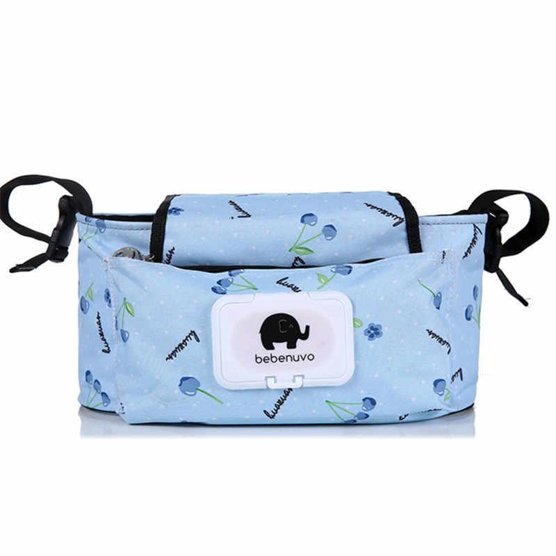 Bolsas para cochecito de bebé, bolsa de pañales de maternidad de gran capacidad para mamás, pañales de viaje para madre, bolsa organizadora para almacenamiento colgante