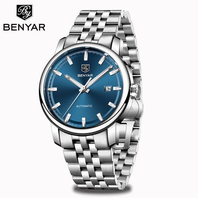 2020 New BENYAR Men's Mechanical Watches Automatic Mens watches Top Brand Luxury watch men WristWatch Military Relogio Masculino 12