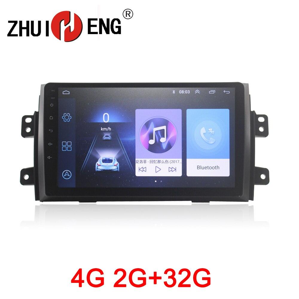 ZHUIHENG 2din autoradio pour Suzuki SX4 2011-2016 pour Fiat sedici 2006-2010 lecteur dvd de voiture accessoire de voiture avec 2G + 32G 4G internet