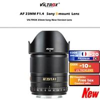 Viltrox-lentes de câmera 23mm f1.4, lentes com foco automático, ampla abertura, para sony e-mount, a6300, a6600, a7riii, a7riv