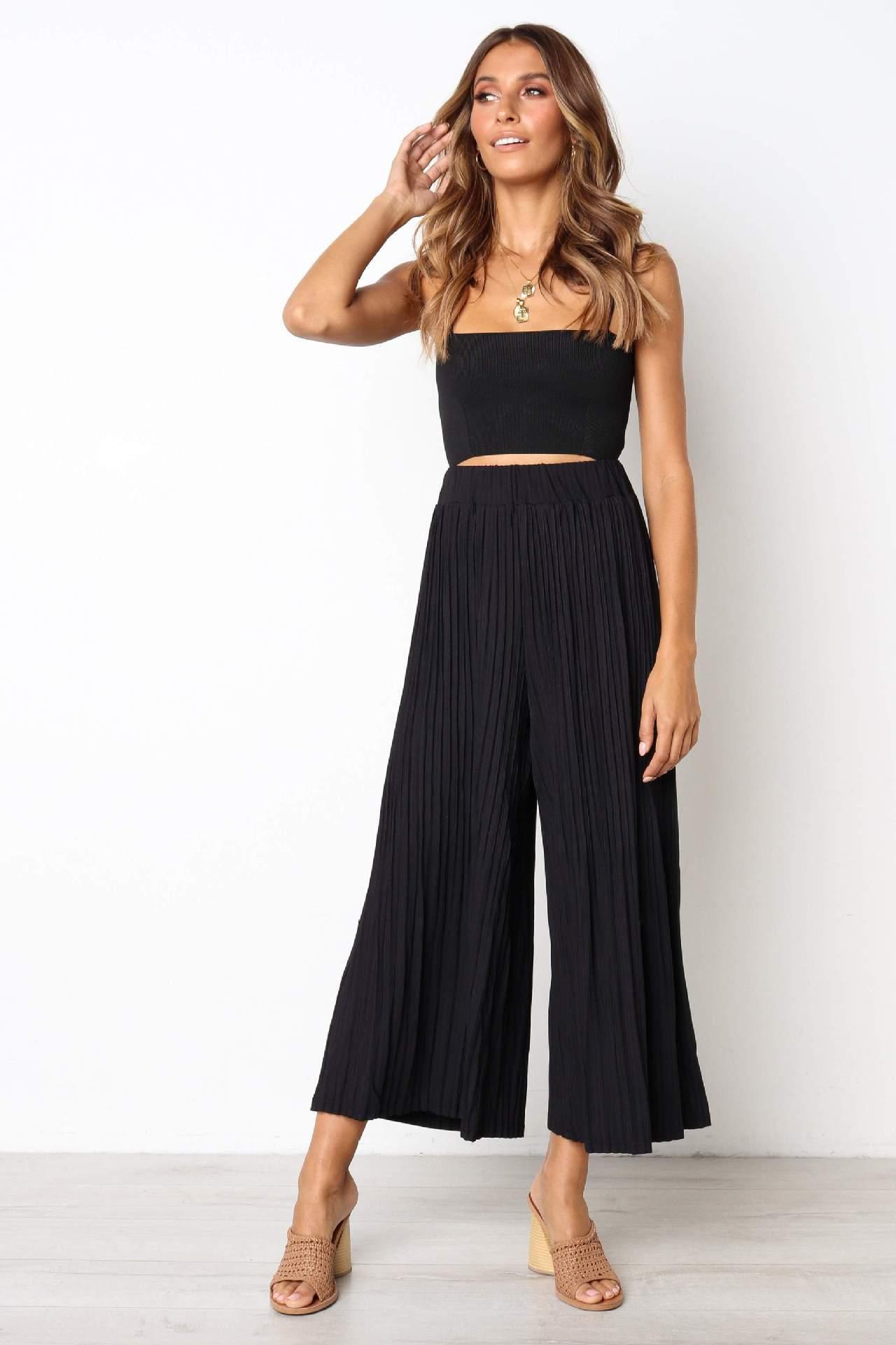 bodysuit women rompers womens jumpsuit hot style pressure 2 sets plait slacks sexy women clothes vestidos BLK8808