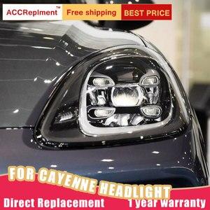 Image 5 - Auto Styling für Porsche Cayenne Scheinwerfer 11 14 Neue Cayenne LED Scheinwerfer LED DRL Kopf Lampe LED Abblendlicht hohe Strahl Zubehör