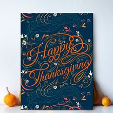 С Днем Благодарения украшение для дома постер современный стиль