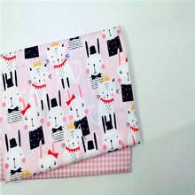 Cotton Twill Fabric Patchwork Textile Print Cloth DIY Sewing Doll Thin Per Meter Material Cheap