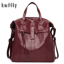 Backpack Women School-Bags Large-Capacity High-Quality Fashion 3in1 PU for Girls