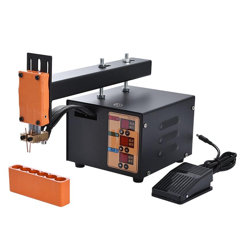 JSD-IIS Point Welding Machine Household Handheld Spot Welding Machine Small Battery Pack Welder Lithium Battery Welder 110V/220V