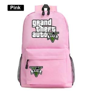 Image 3 - Di modo Caldo di Gioco GTA5 Grand Theft Auto V Della Ragazza del Ragazzo Libro Sacchetto di Scuola Delle Donne Del Sacchetto Pacchetto Adolescenti Zaini Studente Uomini zaino