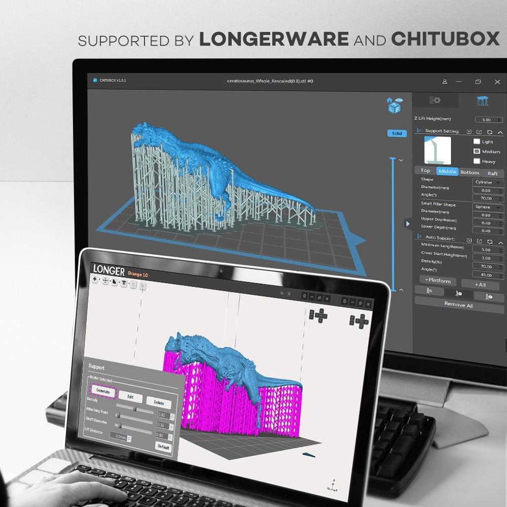 Image 3 - LONGER ORANGE 10 LCD SLA 3D Printer Kit With Resin Matrix UV Lighting of Resin 3D Printer Full Metal Body 3D Print Resin Printer3D Printers   -