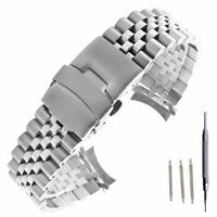 20mm 22mm Edelstahl Uhr Band Armbänder Curved end Ersatz Für Seiko SKX007 SKX009 SKX011 Und Werkzeug