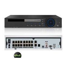 H.265 16CH 4K 48V POE NVR Für 3,0 MP 4,0 MP 5,0 MP ONVIF IP PTZ Kamera CCTV system Überwachung 2SATA 8CH POE NVR H.264 P2P Wolke
