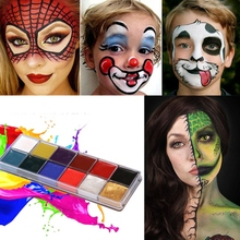 12 Colors Body Paint Cream Non-Toxic Harmless Water Soluble Painting Makeup Palette