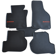 цена на special pads wear resistant thick latex rubber foot waterproof car floor mats for Volkswagen Scirocco