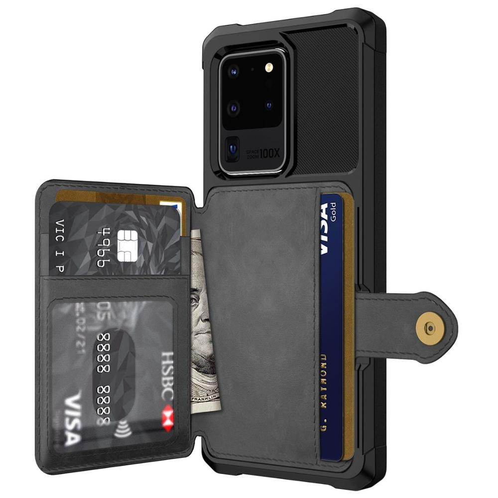 Leather Flip Wallet Cover Samsung Galaxy S20 Plus Ultra