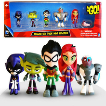 Teening Titans GO Anime Action Figures Toys Robin Cyborg Beast Boy Raven PVC Cartoon Model Birthday Gifts juguetes for Children