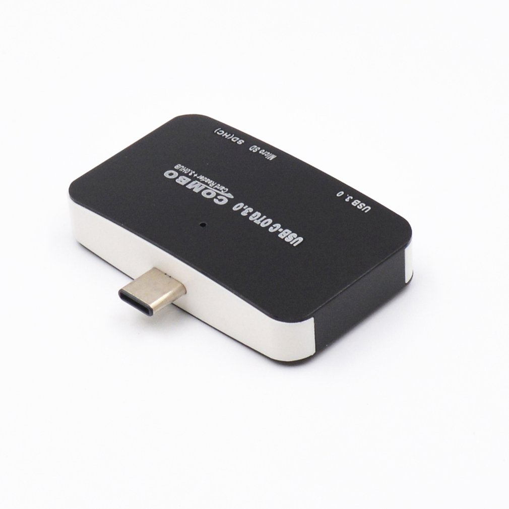 Card Reader Type-C All In One SD/Micro SD Compact Flash Smart Memory Card Adapter Type C OTG SD Card Reader