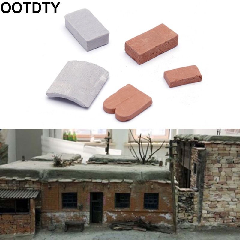 100/80 Pc 1/16 1/35 Miniature Brick Tiles Scene Model DIY Sand Table Manual Wall
