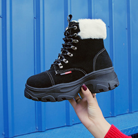 2019 Women Boots Warm Ankle Boots Fur Comfortable Winter Shoes Women Bota Feminina Designer Sneakers Women Increase Buty Damskie