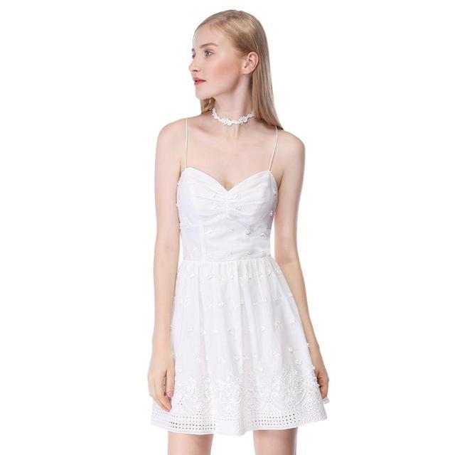 שושבינה שמלות 2020 לבן קצר תחרה קו שיבה הביתה מפלגה לנשף שמלות רעיוני נצנצים שמלות נשף בתוספת גודל