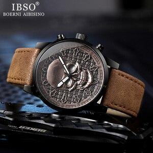 Image 3 - IBSO メンズ腕時計防水腕時計 2019 クリエイティブスカル腕時計クォーツ腕時計ハロウィン男性腕時計時計ギフト