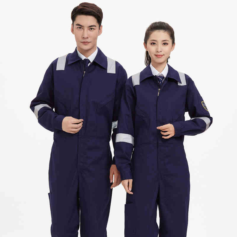 100%Cotton Anti-static Coverall Reflective Strip Overalls Safety Clothing Anti-scald Flame Retardant Thermal Insulation Uniforms