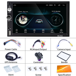 "Image 5 - Podofo Car Multimedia Player GPS Navigation Andriod 2 din 7"" Universal Bluetooth Audio Stereo Receiver for VW KIA Hyundai Toyota"
