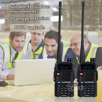 Baofeng BF-F8+ Upgrade New Walkie Talkie 5W Dual Band VHF UHF Radio 136-174/400-520MHz Police Two Way Radio outdoor Long Range