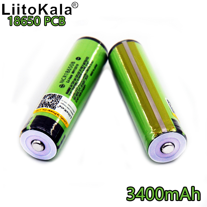 Liitokala <font><b>18650</b></font> for 3400 PCB <font><b>ncr18650b</b></font> 3400mAh rechargeable battery protection flashlight battery lithium batteries image