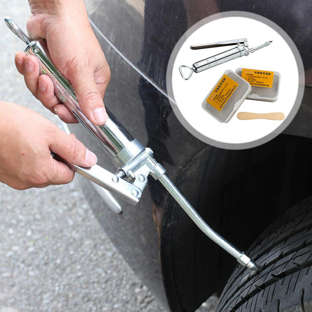 2nd Generation Upgraded Car Tire Repair Kit Inner Tire Rubber Strip Emergency Vacuum Tire Fast Repair Tool Match Long Strip Fill